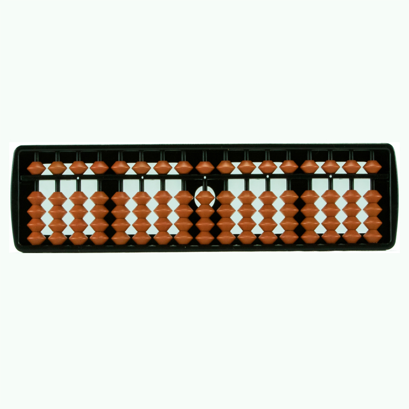 17 Rods Student Abacus with Brown Beads (111)