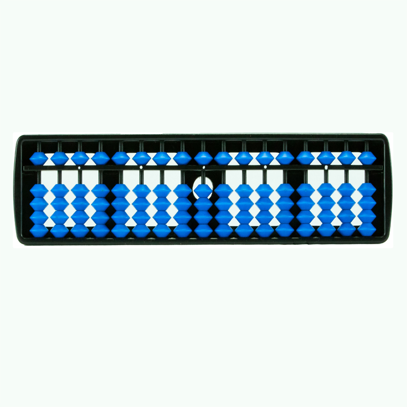 17 Rods Student Abacus With Blue Beads (137)