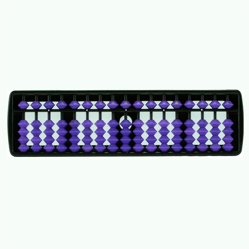 17 Rods Student Abacus With Violet Beads (143)