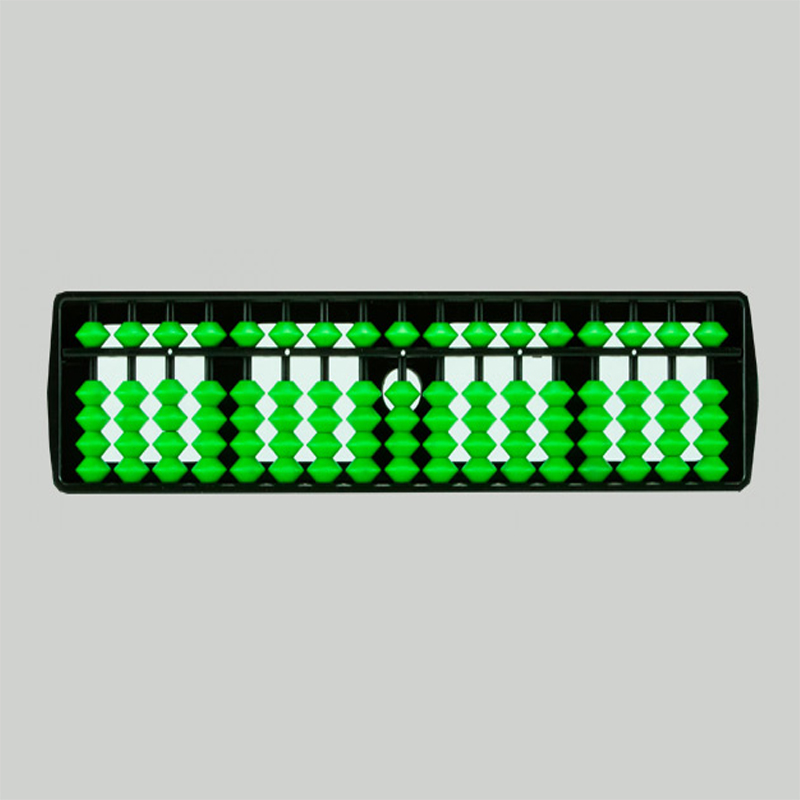 17 Rods Student Abacus With Green Beads (138)